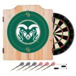 Colorado State Rams Wood Dart Cabinet Set