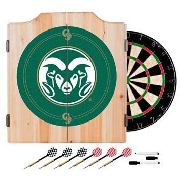 Colorado State Rams Wood Dart Cabinet Set