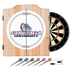Gonzaga Bulldogs Wood Dart Cabinet Set