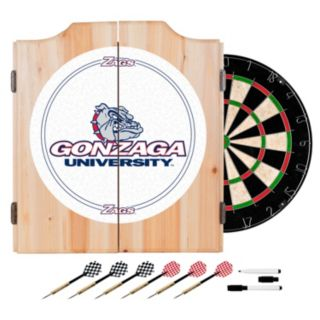 Gonzaga Bulldogs Wood Dart Cabinet Set