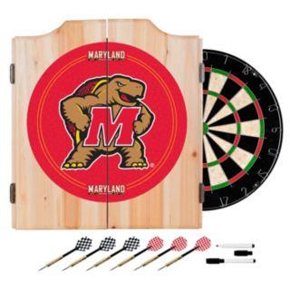 Maryland Terrapins Wood Dart Cabinet Set