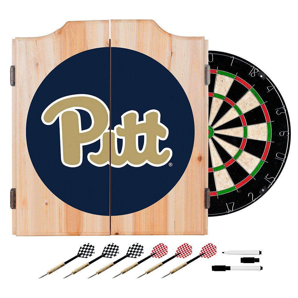 Pitt Panthers Wood Dart Cabinet Set