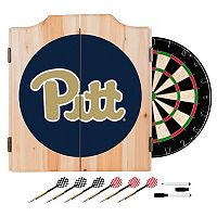 Pitt Panthers Wood Dart Cabinet Set