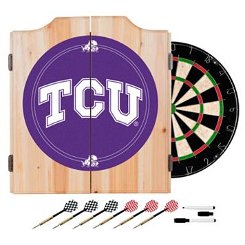 TCU Horned Frogs Wood Dart Cabinet Set