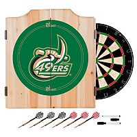 Charlotte 49ers Wood Dart Cabinet Set