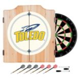 Toledo Rockets Wood Dart Cabinet Set