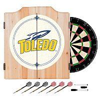 Toledo Rockets Wood Dart Cabinet Set