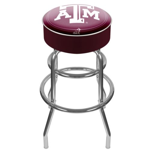 Texas AandM Aggies Padded Swivel Bar Stool