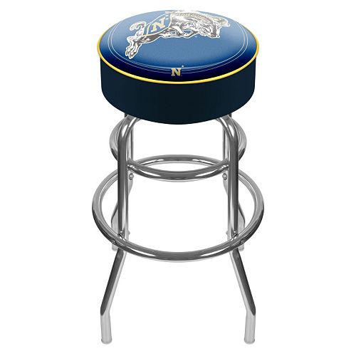 Navy Midshipmen Padded Swivel Bar Stool