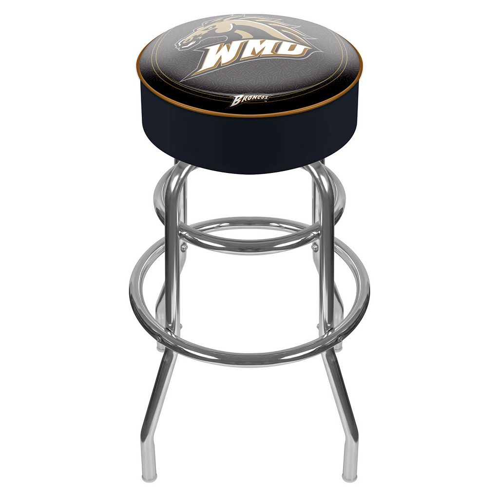 Western Michigan Broncos Padded Swivel Bar Stool