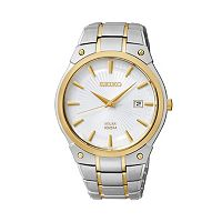 Seiko Men's Two Tone Stainless Steel Solar Watch - SNE324