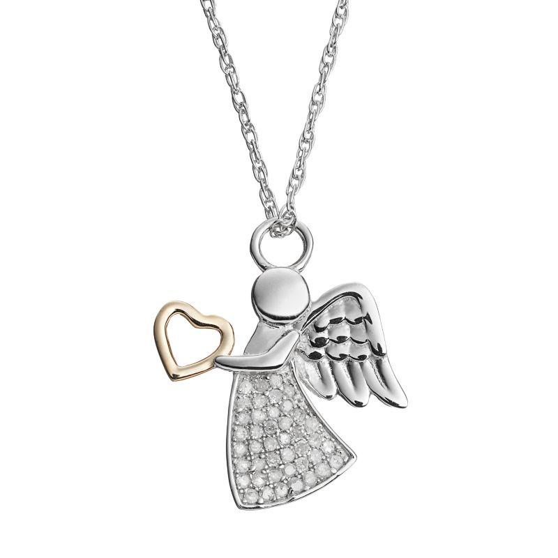 diamond accented necklace kohls
