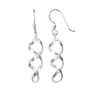 Sterling Silver Twist Drop Earrings
