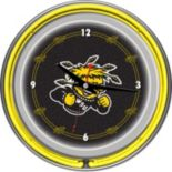 Wichita State Shockers Chrome Double-Ring Neon Wall Clock