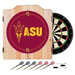 Arizona State Sun Devils Wood Dart Cabinet Set