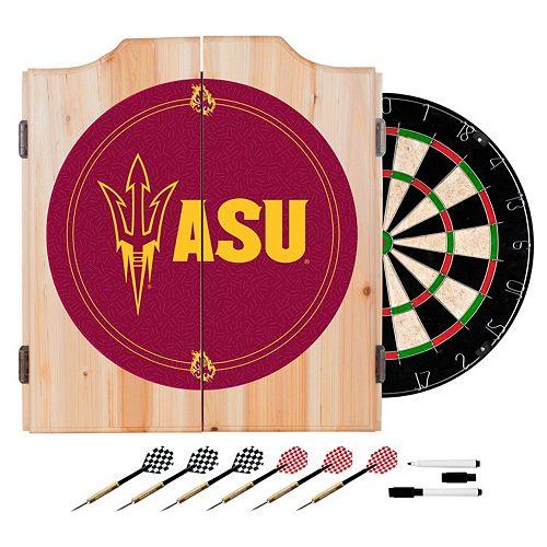 Arizona State Sun Devils Wood Dart Cabinet Set