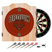 Brown Bears Wood Dart Cabinet Set