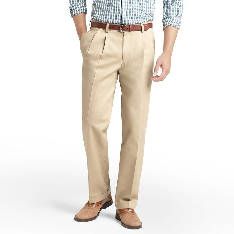 IZOD Madison Classic-Fit No-Iron Double-Pleated Chino Pants - Men