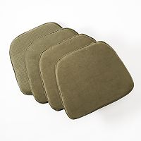 Doeskin Faux-Suede 4-pk. Chair Pads