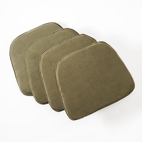 Doeskin Faux-Suede Chair Pad 4-pack