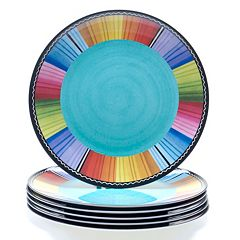 Certified International Serape by Nancy Green 6 pc Melamine Dinner Plate Set
