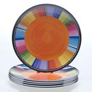 Certified International Serape by Nancy Green 6 pc Melamine Salad Plate Set