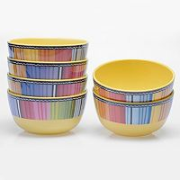 Certified International Serape by Nancy Green 6-pc. Melamine Bowl Set