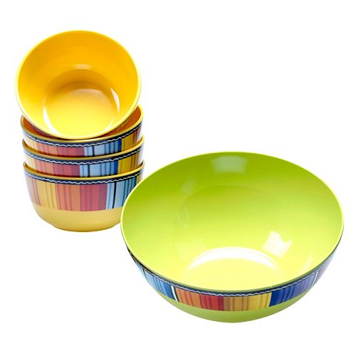 Certified International Serape by Nancy Green 5-pc. Melamine Salad Serving Set
