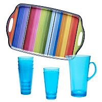 Certified International Serape by Nancy Green 8 pc Beverage Set