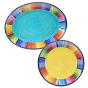 Certified International Serape by Nancy Green 2 pc Melamine Platter Set