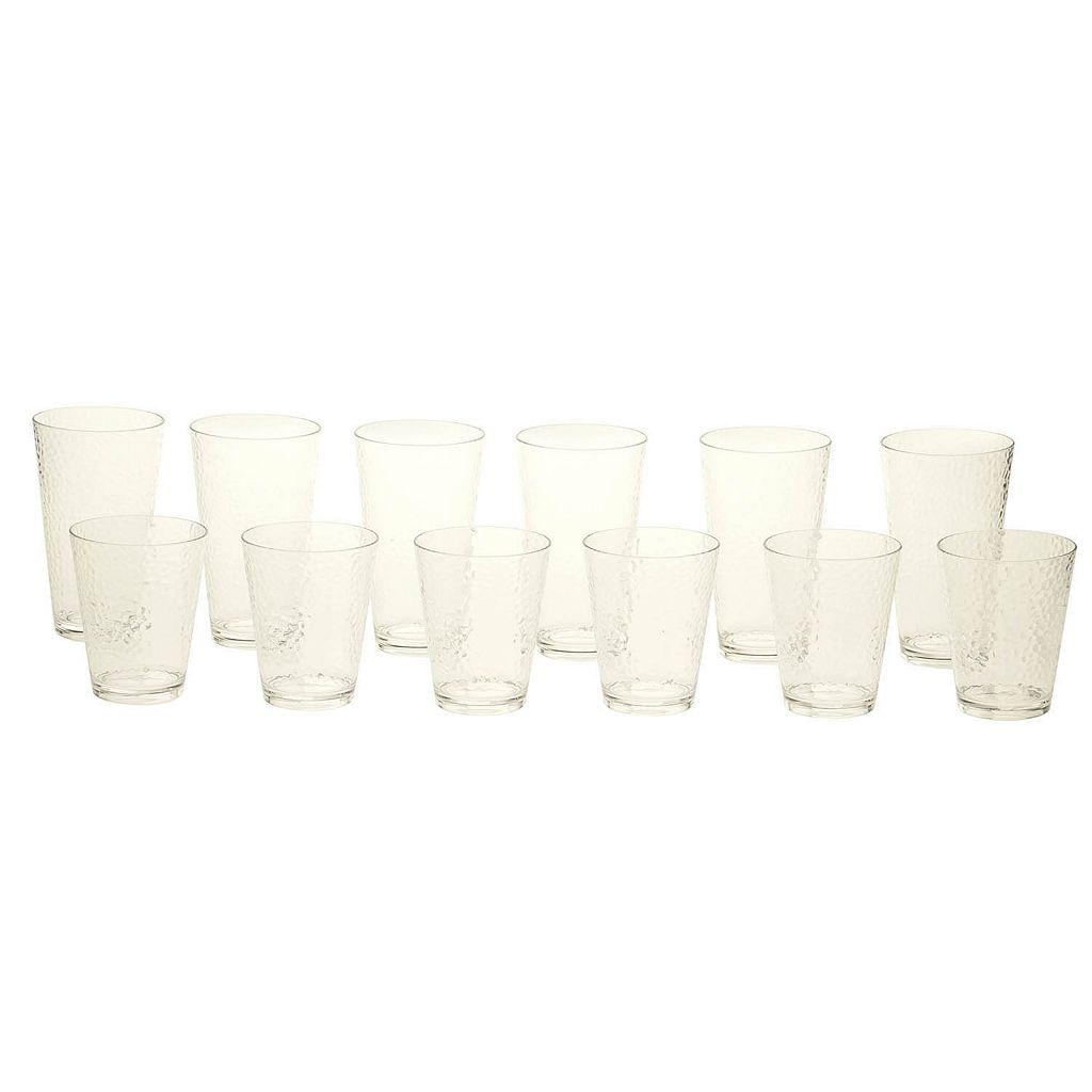 Certified International Hammered Acrylic 12-pc. Beverage Set