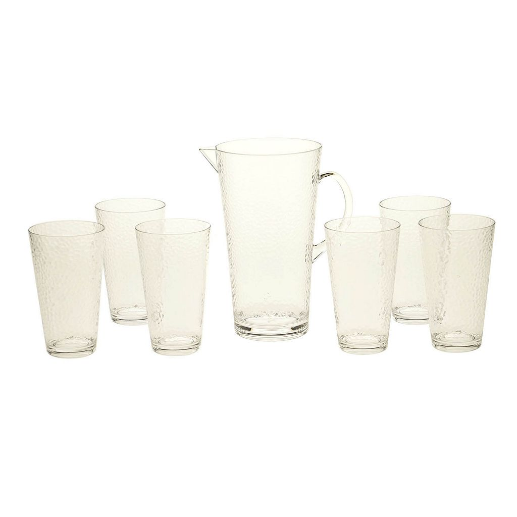 Certified International Hammered Acrylic 7-pc. Pitcher & Glass Set