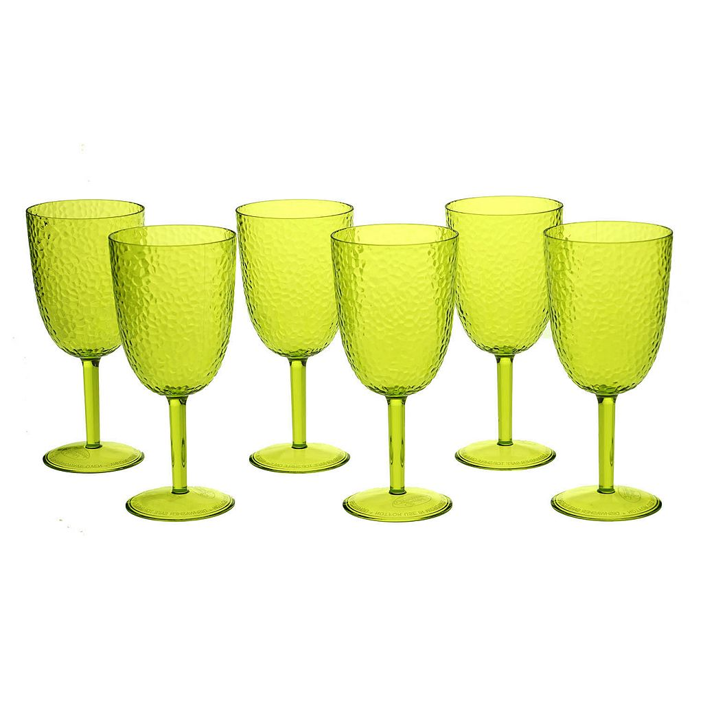 Certified International Hammered Acrylic 6-pc. All-Purpose Goblet Set
