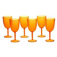 Certified International Hammered Acrylic 6 pc All-Purpose Goblet Set