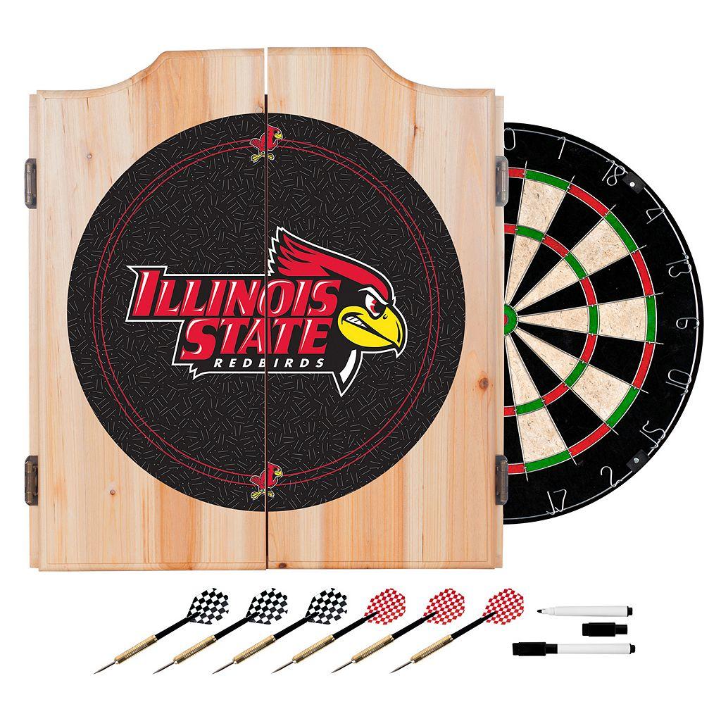 Illinois State Redbirds Wood Dart Cabinet Set
