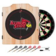Illinois State Redbirds Wood Dart Cabinet Set