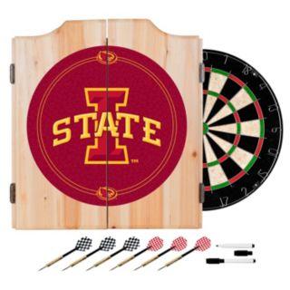 Iowa State Cyclones Wood Dart Cabinet Set