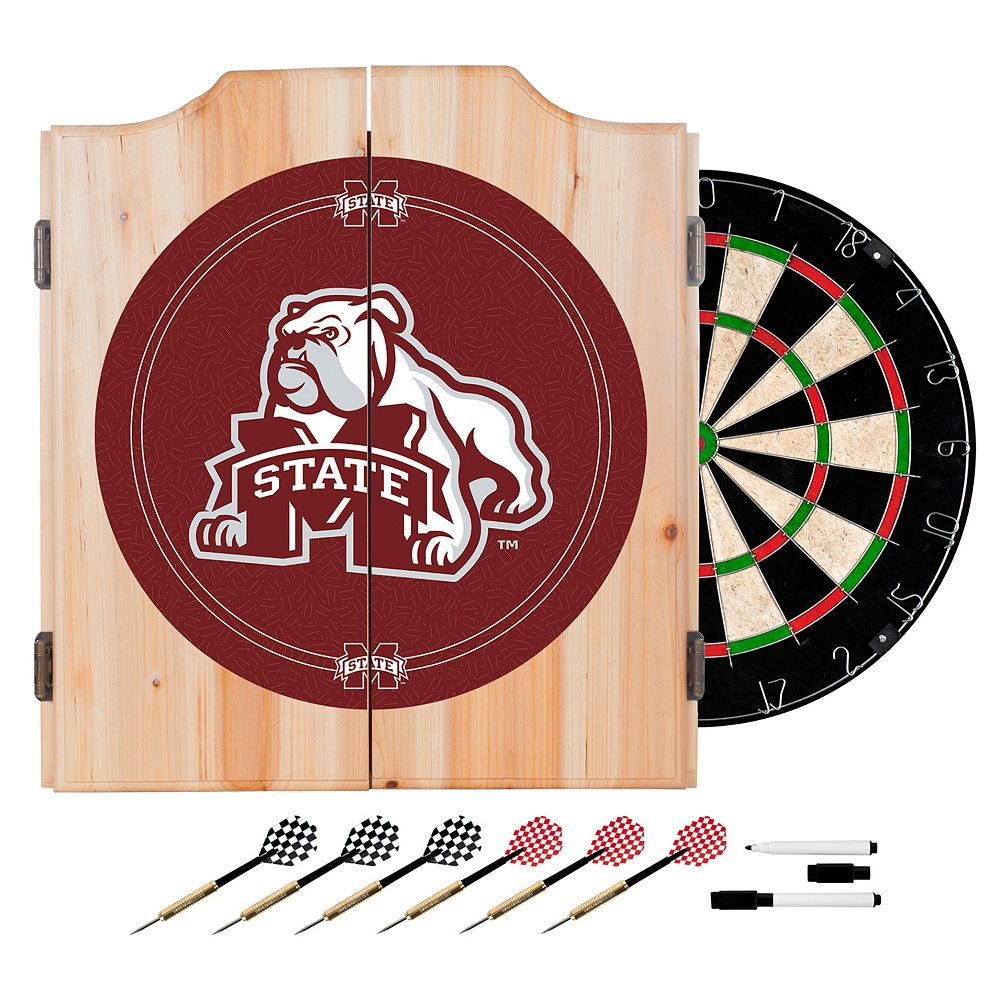 Mississippi State Bulldogs Wood Dart Cabinet Set