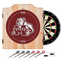 Mississippi State Bulldogs Wood Dart Cabinet Set