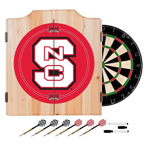 North Carolina State Wolfpack Wood Dart Cabinet Set