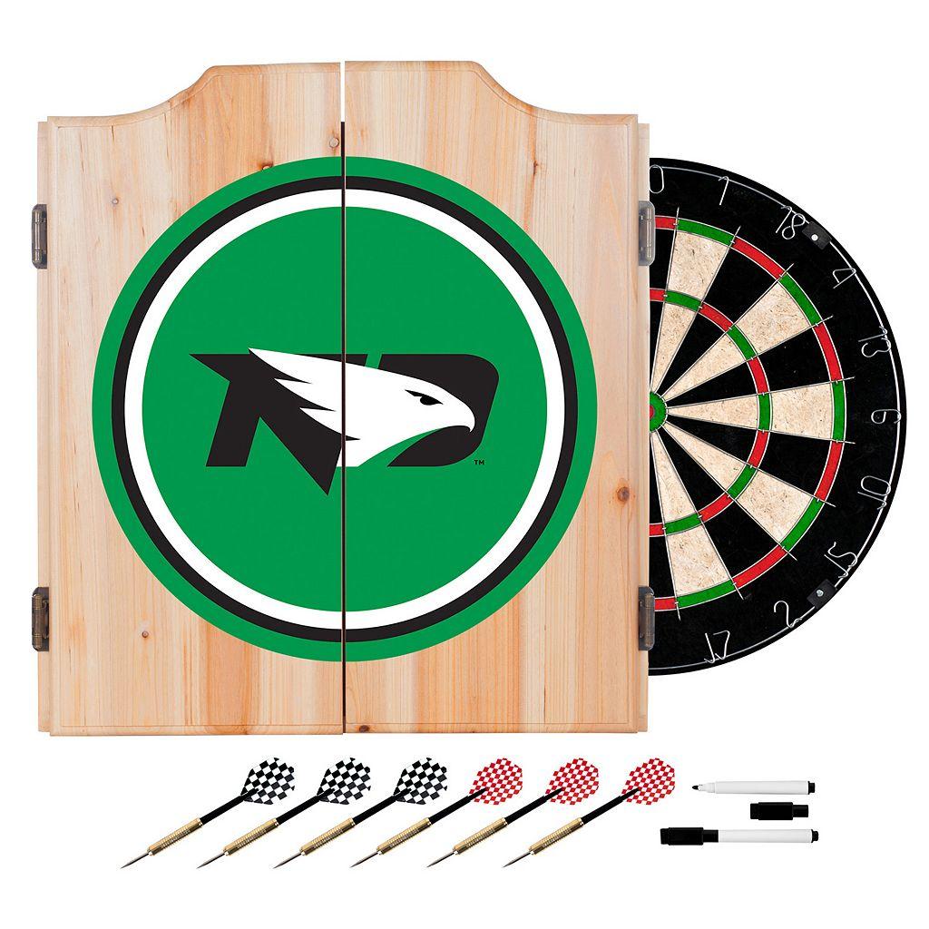 North Dakota Wood Dart Cabinet Set