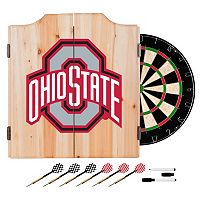 Ohio State Buckeyes Wood Dart Cabinet Set