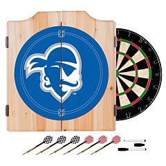 Seton Hall Pirates Wood Dart Cabinet Set