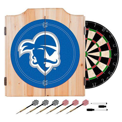 Seton Hall Pirates Wood Dart Cabinet Set