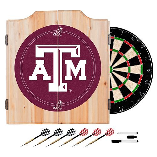 Texas A&M Aggies Wood Dart Cabinet Set