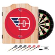 Dayton Flyers Wood Dart Cabinet Set