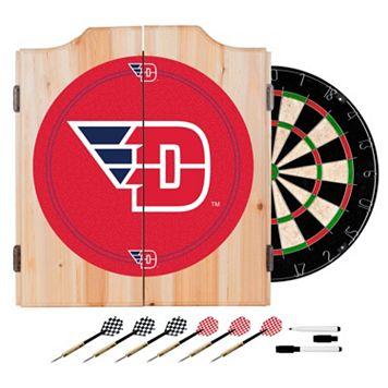 Dayton Flyers Wood Dart Cabinet Set