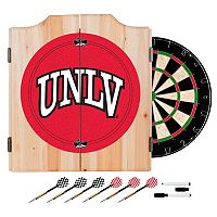 UNLV Rebels Wood Dart Cabinet Set