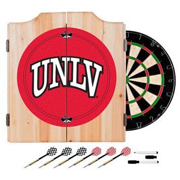 UNLV Rebels Wood Dart Cabinet Set