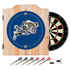 Navy Midshipmen Wood Dart Cabinet Set